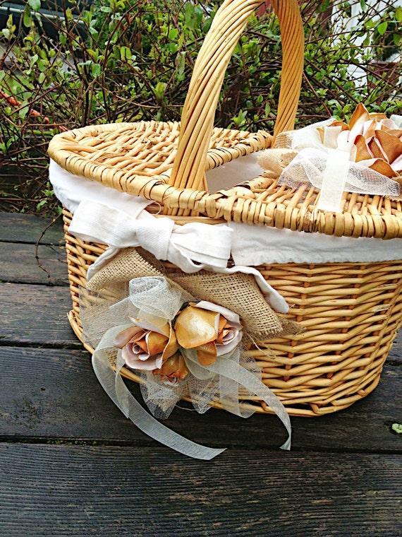 Rustic Wedding Card Basket, Bridal Basket, Reception Card Holder ...