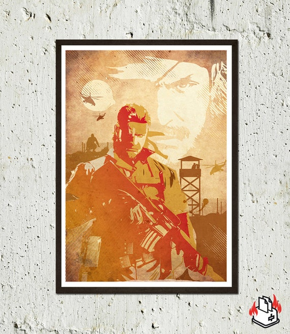 Metal Gear Solid Snake Poster in A3-A2 sizes - Videogame Print Inspired