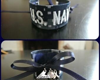 U.S. Navy Branch Name Tape Bracelet