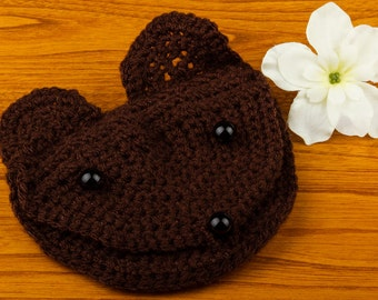 Animal-head crochet coin purse