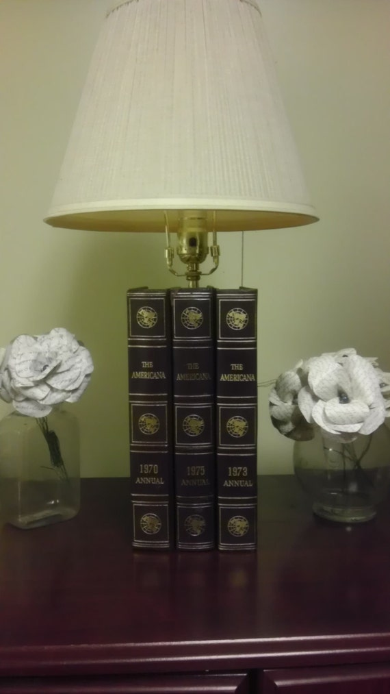 Handmade Functioing Book Lamp Made From Books By Lampsplusmore