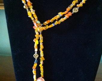 Orange Milleflori Lariat