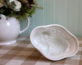 Antique White Ironstone pudding mold to display with your collection.