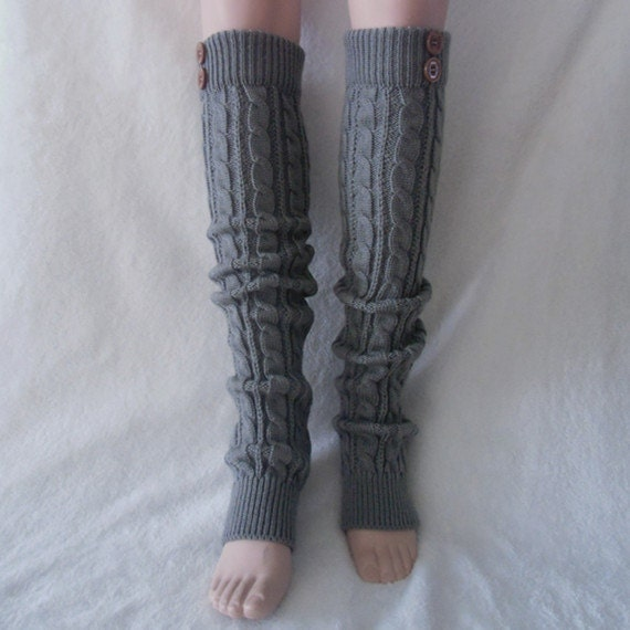 Knitting Pattern For Leg Warmers With Buttons : Leg warmers knit legwarmers womens leg warmers boots by WoolSister
