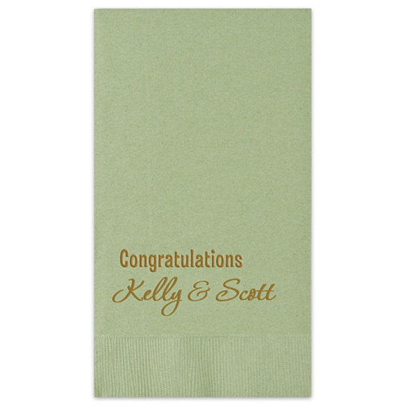 Guest Paper Napkins For Bathroom 100 Personalized