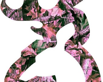 "Browning Deer, 4 Pink Camo colors to choose. Decal/Sticker 2""-22"""