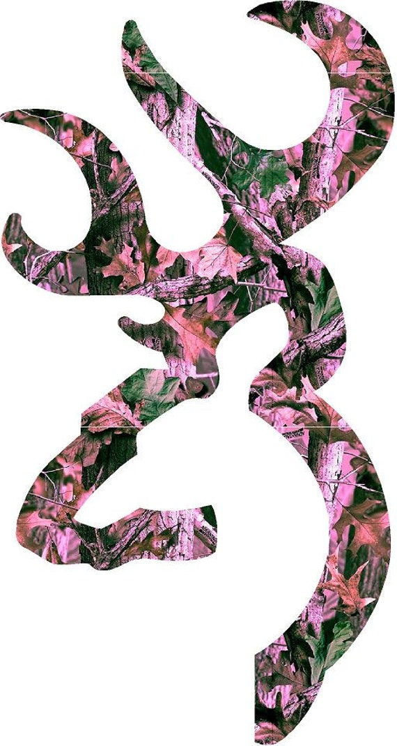 browning deer 4 pink camo colors to choose decalsticker