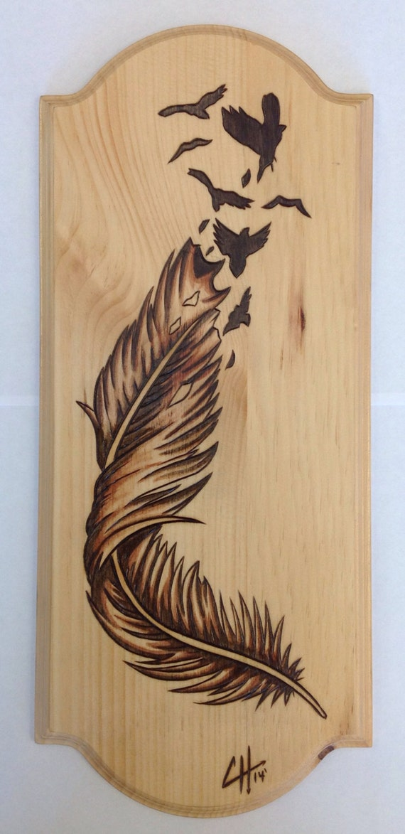 Items similar to Birds Of A Feather (Wood Burning/ Wood ...
