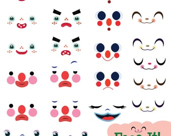 Face It! Facial Expressions Clip Art Set - *Instant Download!*
