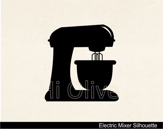Items Similar To Svg Electric Mixer Clip Art Silhouette