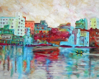 Bengali Bay oil painting by Stephanie PCox