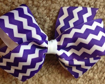 Chevron Traditional Style Hairbows