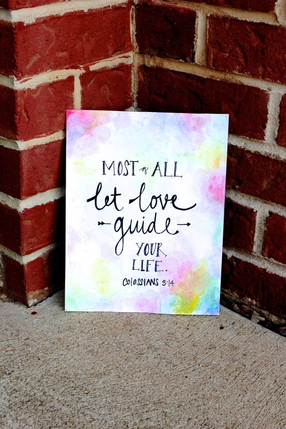 items similar to hand lettered print watercolor