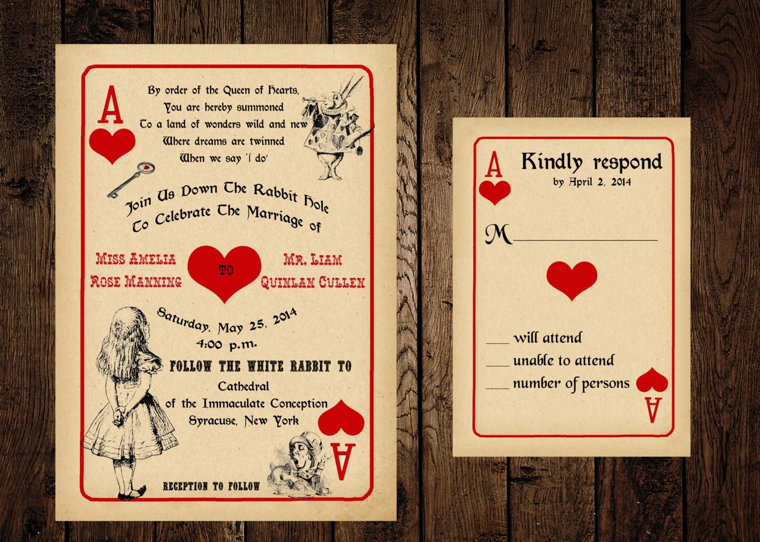 il_fullxfull.549929249_q0si printable alice in wonderland wedding invitation and response,Invitation And Response Card Set