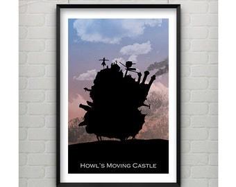 Howl's Moving Castle Print - Howl's Moving Castle 11x17 Print - Howl's Moving Castle Inspired Print