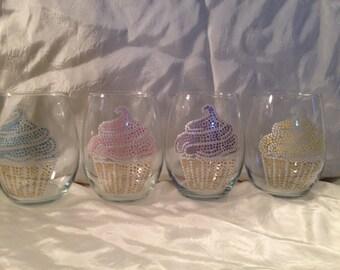 Cupcake Wine Glass