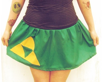 Custom tutu Skirt The Legend of Zelda inspired Link Triforce cosplay
