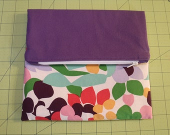 Fold Over Clutch purple/multi