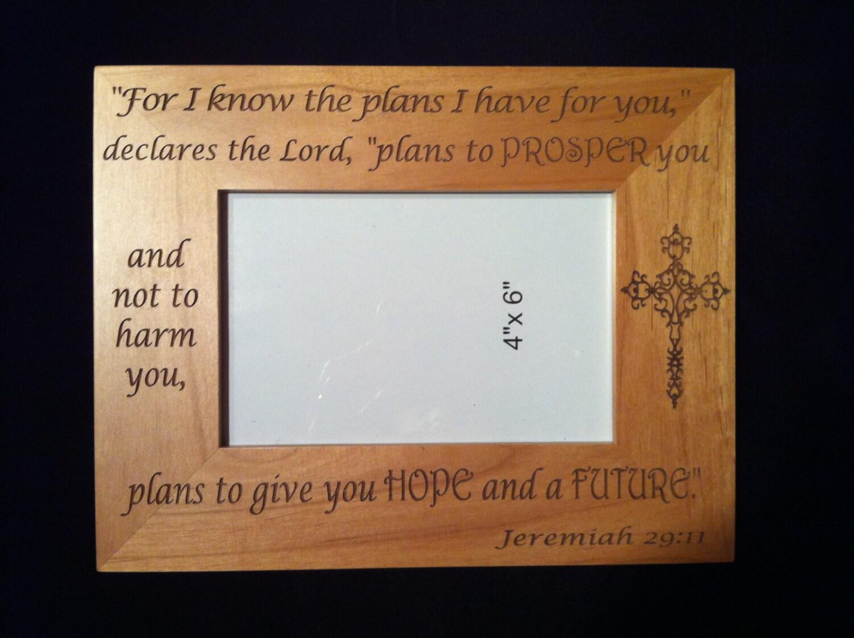 Jeremiah 29 11 Engraved Frame Spiritual Frame