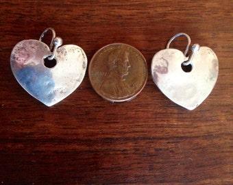 Beguiling Sterling Silver Heart Earrings