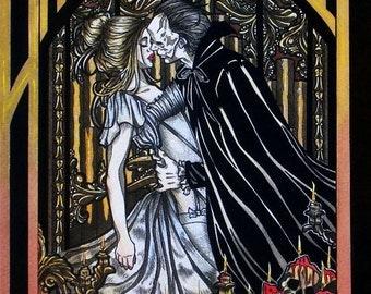 Eric and Christine Phantom of the Opera book cover GOTHIC FANTASY ART