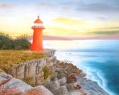 """Original Pastel drawing """"Landscape drawing: Sydney Tower in the dusk"""""""