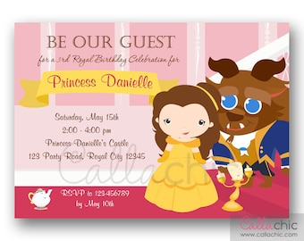 Beauty And The Beast Invitation PRINTABLE