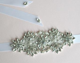 Swarovski Rhinestone Pearl Wedding headband, CAMILLA