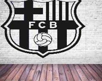 Vinyl Wall Sticker Decal Art -football barcelona club