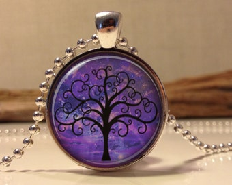 Tree necklace.Tree of life necklace. Tree of life art pendant jewelry. tree jewelry. (Tree#05)