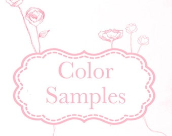 Color Samples Only - Tulle and Ribbon
