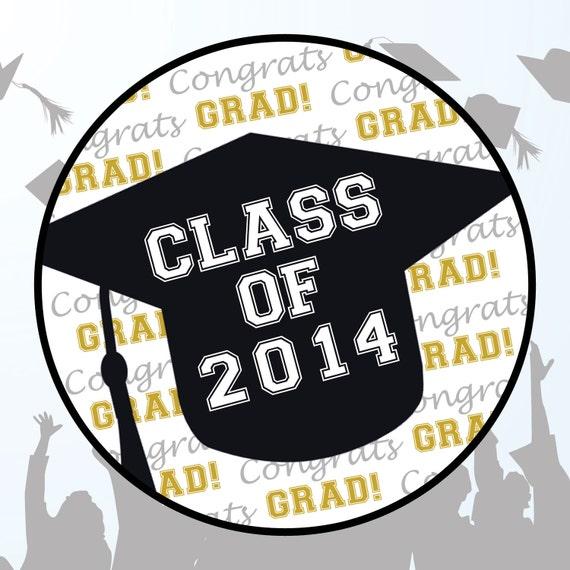 Round Graduation Favor Label