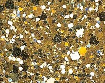 Gold glitter fabric. A4 sheet.