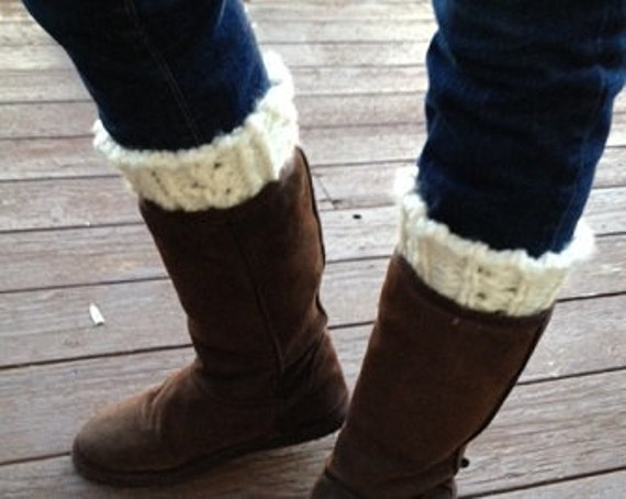 One Boot Topper, Two Looks - a loom knit pattern