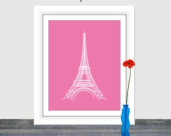 Eiffel Tower Printable, Paris France Printable, Eiffel Tower Nursery Art, Printable, Art Print, Instant Download, Printable Art, Wedding Art