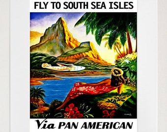 Travel Poster South Seas Art Home Decor Print (TR84)