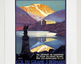 French Travel Art Chamonix Poster Print France Home Decor (XR191)