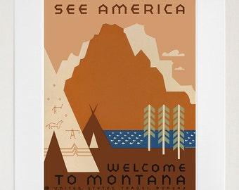 See America Art Print American Travel Poster (zt684)