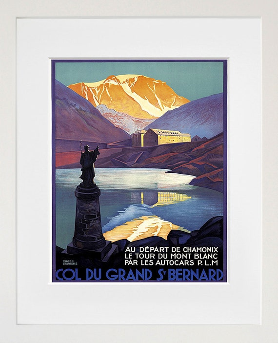 French travel art chamonix poster print france home decor for Art decoration france