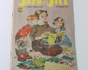 """Vintage 20th Anniversary Edition of """"Jack and Jill"""" magazine for children from late 1950s"""