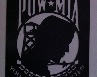 POW MIA Metal Wall Decor Memorial Metal Art of Our POWS