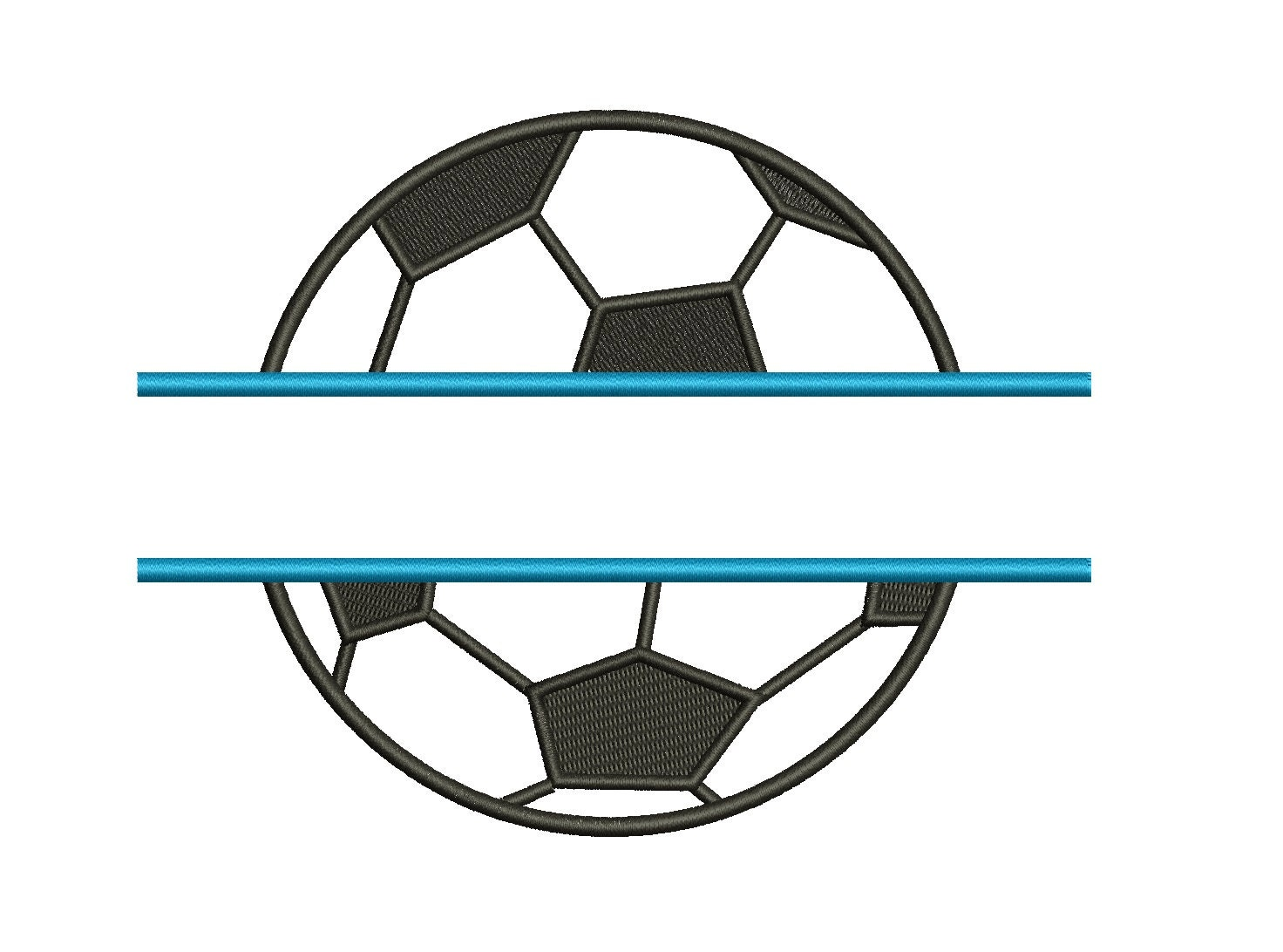 Soccer Ball Split Design Machine Embroidery Digitized Design