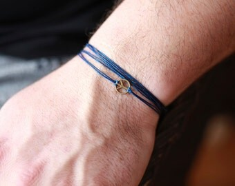 Men's peace bracelet, bracelet for men, peace charm, bracelet - Hippie bracelet