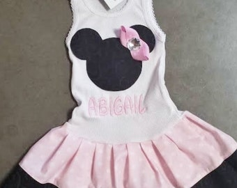Baby Pink, Minnie Mouse Dress.