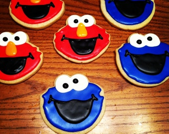 Elmo or Cookie Monster Sugar Cookies: 1 Dozen