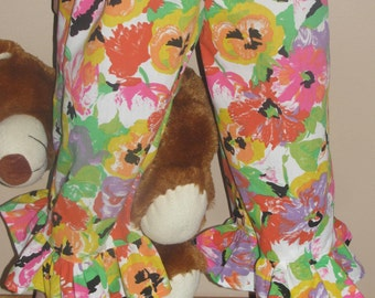 OOAK Pajama pants pajama shorts bloomers cotton pajama bottoms Girl pajamas Size 6-8