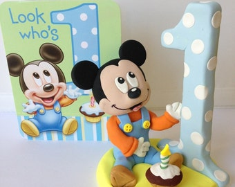 Baby Mickey First Birthday Cake Topper