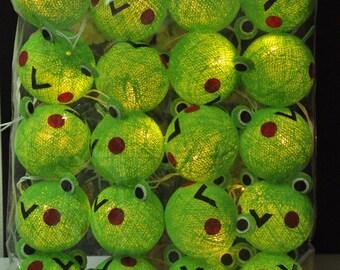 20 Keroro Happy Lights set Cotton Balls for Kid bedroom birthday  light display garland decorations
