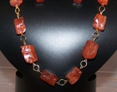Carnelian Necklace, Energy Stone, Women's Birthday Gifts, Jewelry Set Available with Earrings