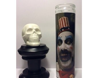 Captain Spaulding House of 1000 Corpses Prayer Candle